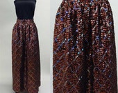 1960s Brown Sequin Maxi Skirt