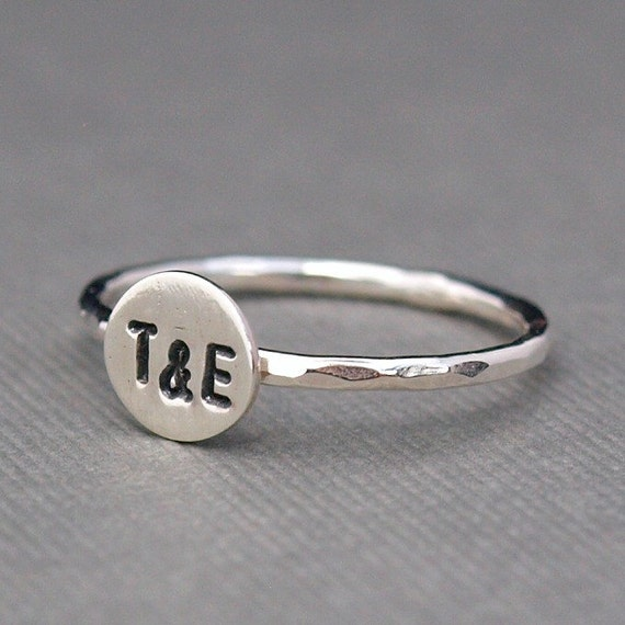 Personalized Jewelry , Initials Ring , Sterling Silver Ring , Couples Ring , Ampersand