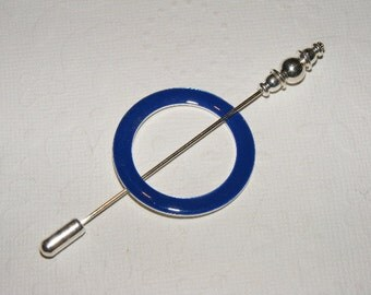Lace Weight Shawl Pin in Blue