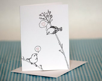 Valentine Love Birds Greeting Card