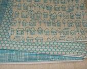 Little blue house burp cloth trio