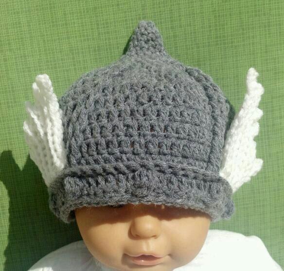 Crochet Pattern For Baby Helmet : PDF Crochet PATTERN to make Thor God of Thunder Hat for Baby
