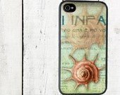 iphone 6 case Pink Sea Shell iPhone Case, Nautical iPhone Case for 4 4s, Seashell - iPhone 5 Case - Galaxy s3 s4 s5