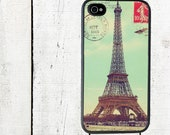 Eiffel Tower Postcard Phone Case for  iPhone 4 4s 5 5s 5c SE 6 6s 7  6 6s 7 Plus Galaxy s4 s5 s6 s7 Edge