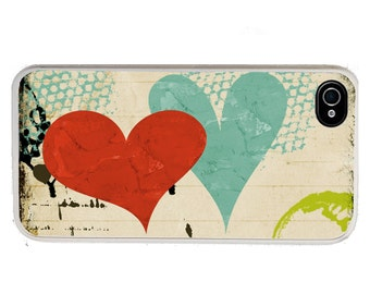 iphone 6 case Colorful Hearts iPhone case, fits iPhone 4, 4s - iPhone 5 Case - Galaxy s3 s4 s5