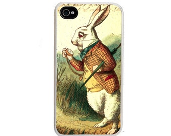 iphone 6 case White Rabbit iPhone case, Alice in Wonderland, fits iPhone 4, 4s - iPhone 5 Case - Galaxy s3 s4 s5