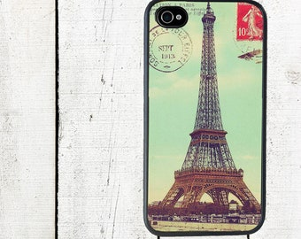 iphone 6 case Eiffel Tower Postcard iPhone case - Cell Phone Case - iPhone 5 Case - iPhone 4,4s - Galaxy s3 s4 s5