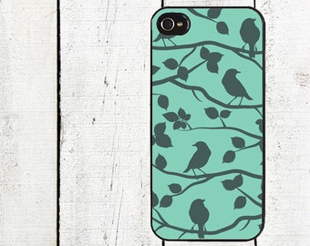 iphone 6 case Birds in Tree Silhouette Cell Phone Case - Pattern iPhone 4 Case - Cell Phone Case - iPhone 5 Case