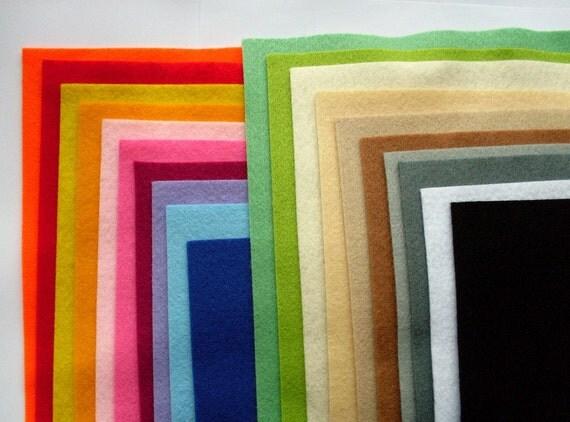 20 Synthetic Felt Sheets - set C