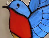 Stained Glass Bluebird