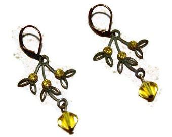 Vintage Citrine Dangle Earrings