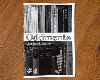 SALE - Oddments no. 4 zine - the book issue
