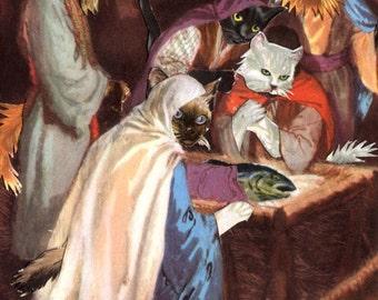 "Feline Nativity 13""x19"" Print"