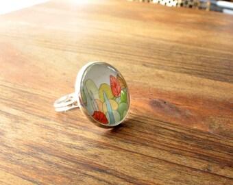 Lovely Landscape - Adjustable Ring