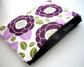 Catch all Clutch Pouch Case ECO Friendly Padded Lilac Bloom