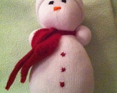 Holly the Sock Snowman- baby safe