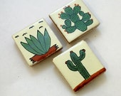 Mexican Tile Magnets - Cactus