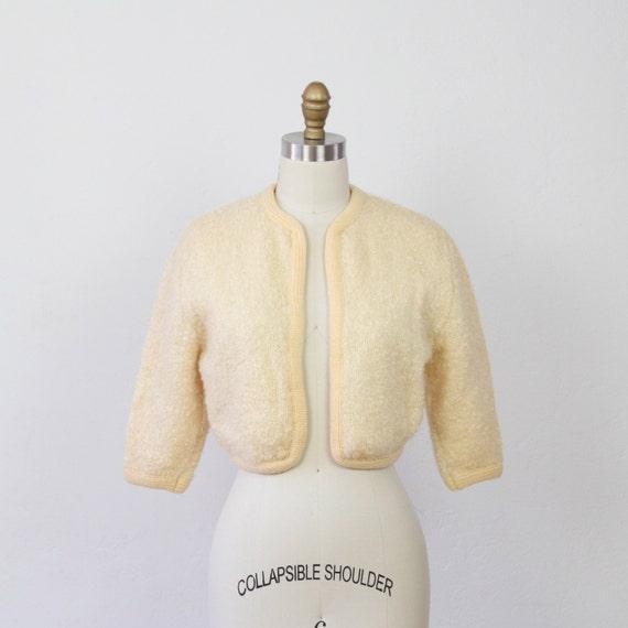 Cream Cropped Shrug Bolero Sweater - M/L