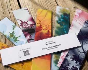 Random Fractal 'Slice' Bookmark Assortment (set of 5)
