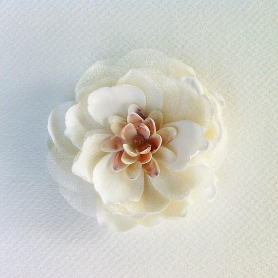 Ivory Flower Hair Clip Wedding: Items Similar To Wedding Fascinator