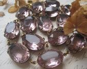 "Anna Wintour necklace, georgian collet, purple statement necklace, Jane Austen, Edwardian jewelry, amethyst necklace.""Lavender Fields"""