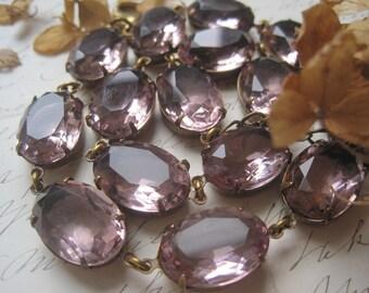 """Anna Wintour necklace, pale purple, georgian collet, collet, vintage statement necklace.""""Lavender Fields"""""""