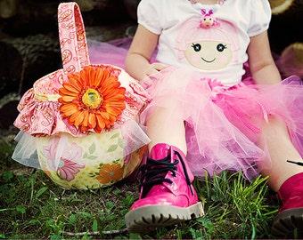 SALE Sewing pattern Easter basket PDF ebook tutorial instant download DIY Easter