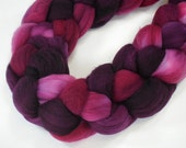 spinning roving faux cashmere top PLUM DIGGITY 4 oz.
