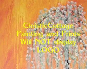 ACEO Weeping Willow - acrylic Print