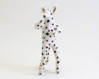Spun Cotton Vintage Inspired Dalmation Dog Figure/Ornament