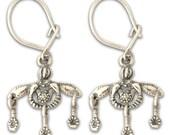 Minoan Malia Bees - Sterling Silver Pierced Earrings
