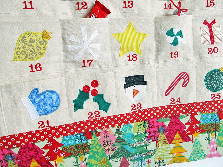 free name personalized christmas advent calendar by edeenut