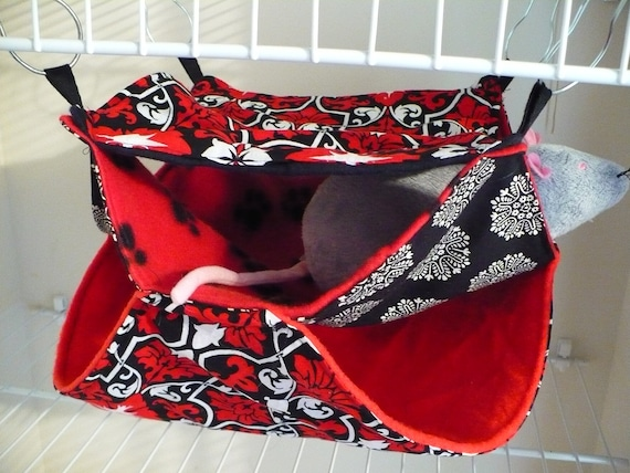 Red and Black Triple Hammock