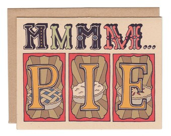 MMM... PIE greeting card