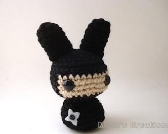 Pinhead Moon Bun Amigurumi Bunny Rabbit 31 by MoonsCreations