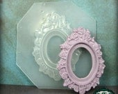 resin MOLD Flower Cameo Setting Jewelry Frame with 30x40mm Inset Bezel