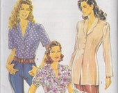 New Look 6191, Misses Fitted Collared Blouse or Tunic, PLUS SIZES 12-24, Sewing Pattern