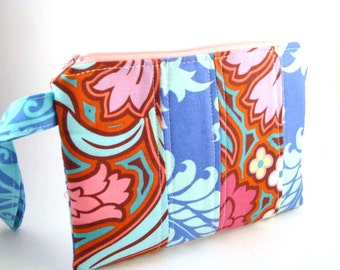 Zippered Wristlet-Amy Butler Fabrics in Patchwork