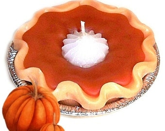 3 Inch Pumpkin Pie Candle Spicy Scent Hostess Gift Novelty Candle