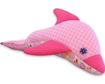 Dolphin  Plush Toy Pattern PDF INSTANT DOWNLOAD