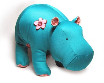 Hippo Heather Stuffed Animal Pattern PDF