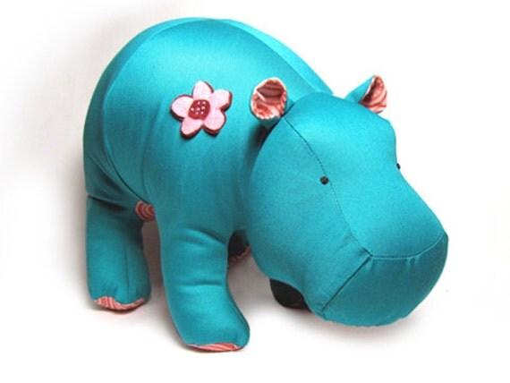 Hippo Heather Stuffed Animal Pattern PDF