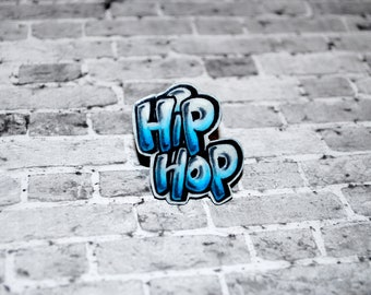 Graffiti Hip Hop Ring Blue by beebles