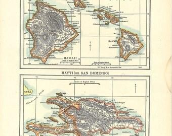 map of Hawaiian Islands from 1904, a vintage printable digital map, no. 921.