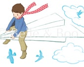 Large My Paper Plane Wall Sticker