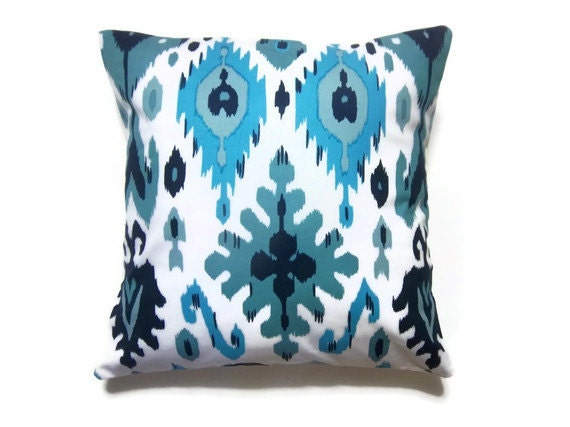 Navy And Teal Throw Pillows: Decorative Pillow Cover One Turquoise Teal By