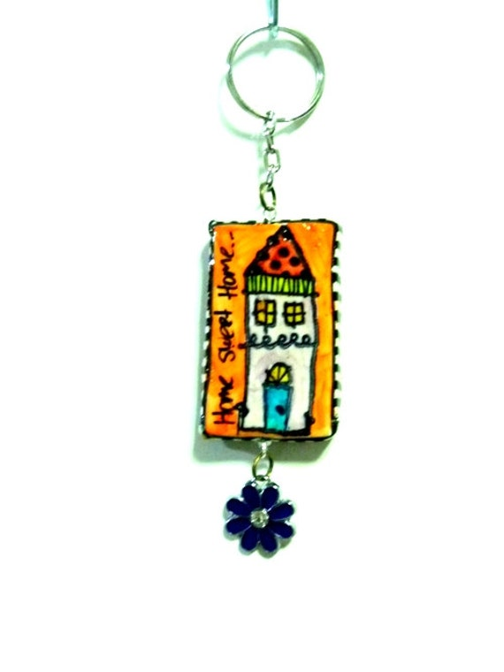 Home Sweet Home  key chain /  decoration for you bag