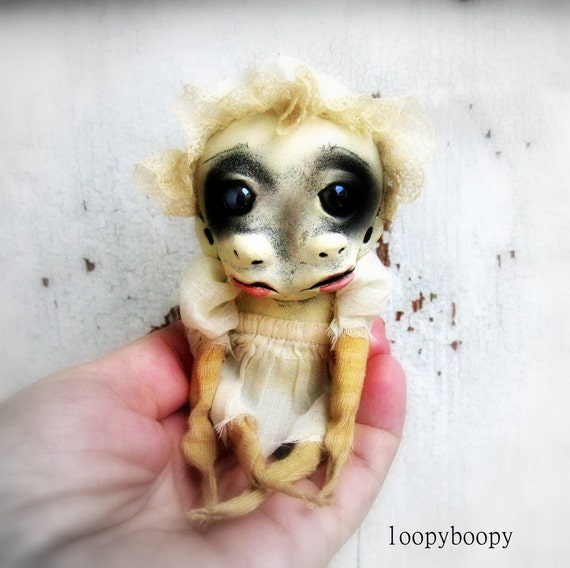 Strange OOAK Art Doll Halloween Decoration Scary Demon Baby Claudia  Island of the MisFit Orphans RESERVED