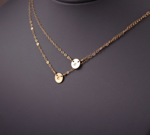 Items Similar To Double Layered Disc Necklace