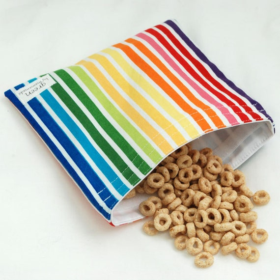 Rainbow Gradient - green by mamamade Eco-Friendly Reusable Sandwich Bag